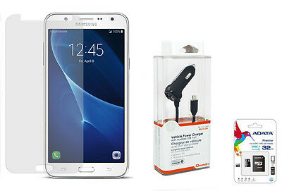 Accessory Bundle for Samsung Galaxy J7- 32GB MicroSD Card, Car Charger and More!