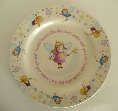 Anderton Pottery Twinkle Twinkle Little Star Child's Porcelain Plate. England