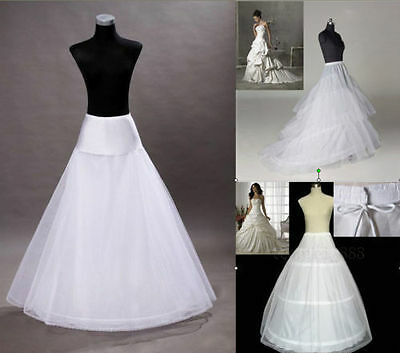 New 3 Styles Plus Size/Normal Size White Wedding Gown Petticoat Slip Underskirt