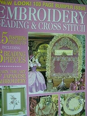 Embroidery Beading & Cross Stitch Magazine V12 #9-15 Projects- Butterflies, Gard