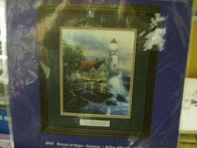 Beacon Of Hope Summer Cross Stitch, Printed Background Kit Kinkade 8x10 Inches