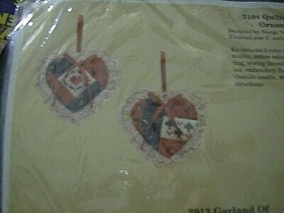 Creative Circle Quilted Heart Ornaments Kit Makes 2 of 4 Inches Each