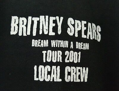 Britney Spears Dream Within a Dream Concert tour 2001 Local Crew Shirt XL NWOT