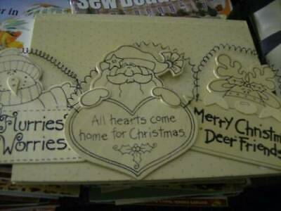 Provo Craft Christmas Wood Ornaments For Painting Your Choice- Snowman, Santa OR