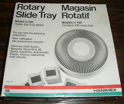 Hanimex Rotary Slide Tray For Projector 100 2X2 Slides P/n 3719