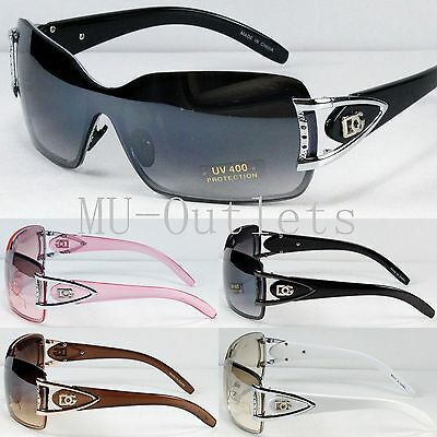 New DG Eyewear Womens Mens Shield Designer Sunglasses Shades Retro Wrap (#9013)