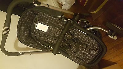 JJ Cole Collections Monroe Black/Gray Drops Travel System Single Seat Stroller