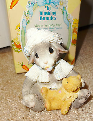 My Blushing Bunnies Bouncing Baby Boy #295698 Cherished Teddies 1997