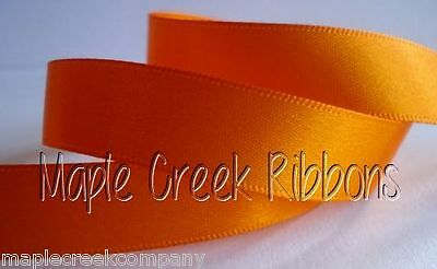 """5yd of Yellow 3//8/"""" Double Face Satin Ribbon 3//8/"""" x 5 yards neatly wound"""