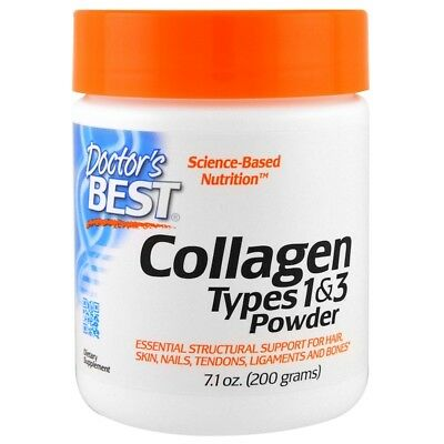 DOCTOR'S BEST 100% PURE COLLAGEN PROTEIN POWDER TYPES 1 & 3 HYDROLYZED USA 200g