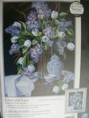 Lilacs & Lace Crewel Embroidery Kit 12x16 Inches, Dimensions