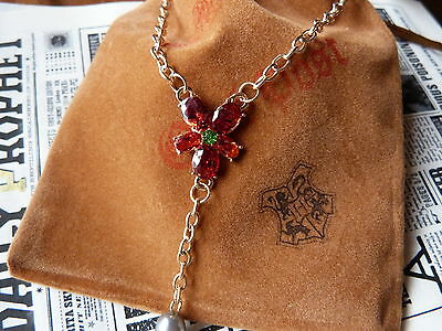 Hermione Granger Necklace 18K Gold Plated. Harry Potter movie prop.