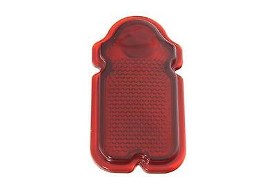 Red Glass Tombstone Tail Lamp Lens for Harley FL 1947-54 OEM: 68090-47