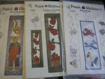 Patch Abilities Quilt Pattern- Your Choice- Airplanes, Fred Rabbit OR Apples a '