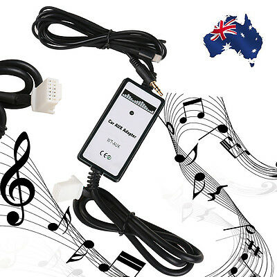 AUX Input Dock Adaptor Audio MP3 Interface Adapter For iPhone charging Toyota