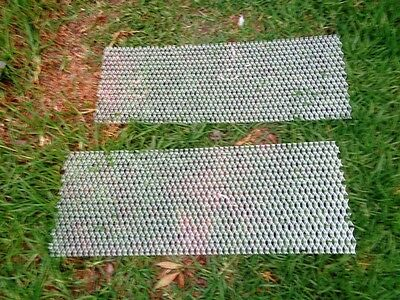 Aluminium expanding MESH  800mm x 250mm *** 2 pieces*** 32 x 14mm raised lipped