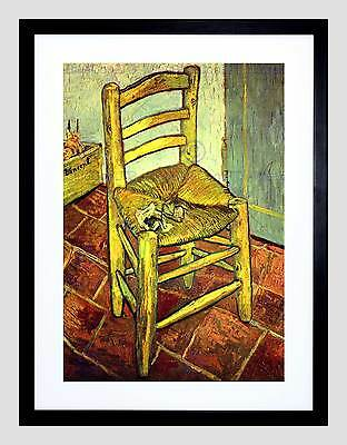 Van Gogh Vincent's Chair With Pipe Old Master Framed Print B12X2264