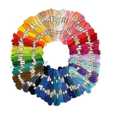 50/100PCS Cross Stitch Cotton Embroidery Thread Floss Sewing Skeins Crafts