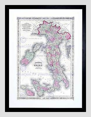 MAP OLD FRANCE LEVASSEUR GERS DEPARTMENT BLACK FRAMED ART PRINT PICTURE B12X3630