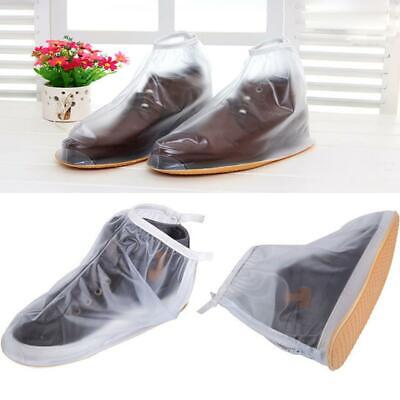 Zipper Anti-Slip Waterproof Shoe Covers Rain Boots Overshoes Mens Women Reusable