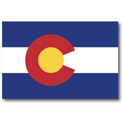 Colorado State Flag Magnet 4x6 inch US State Flag Decal for Car Truck or Fridge