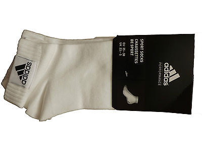 Adidas white sports socks 3 pack all sizes BNWT free UK postage