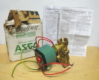 """ASCO Redhat * SOLENOID VALVE * P/N: 8210G13 * with 3/4"""" NPT  * NEW IN THE BOX"""
