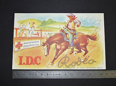 Buvard 1950 Biscuits Idc Pains D'epices Rodeo Notelaers & Fils Tourcoing Paris