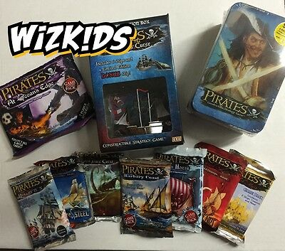 Wizkids Pirates Miniatures Game : Mega Starter Pack With Boosters, Tins & Box