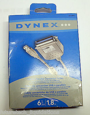 Dynex Usb To Parallel Printer Cable 6Ft / 1.8M (White) - Dx-Ubpc