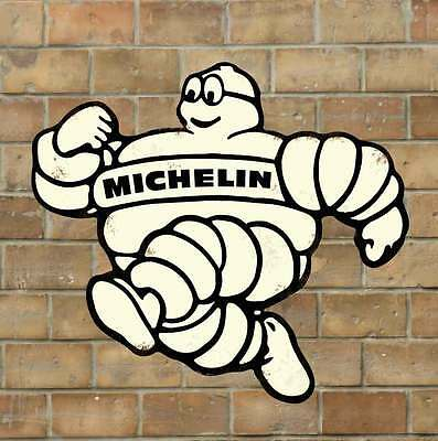 Replica Michelin Man Sign, Rusty Vintage Garage Sign, Large & Extra Large Sizes
