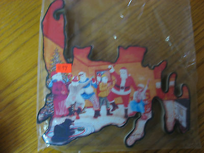 Newfoundland Wooden Wall Hanging Christmas Santa with Mummers