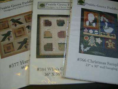 Prairie Grove Peddler Quilt Sewing PATTERN- Your Choice- Who's Got The Mitten, H