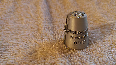 RARE** Pewter Houston Space Center thimble Souvenir_C3