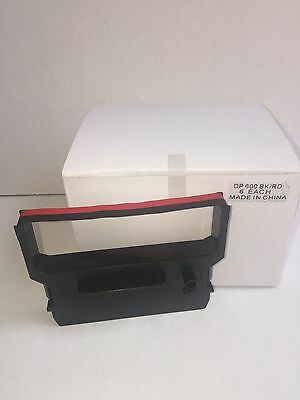 Citizen DP 600/ IR 61  Black /Red 6 - Pack Compatible Printer Ribbon