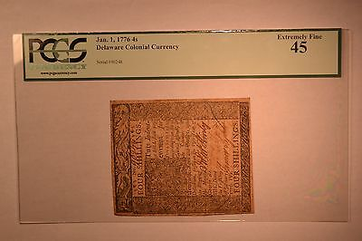 Delaware January 1, 1776 4s PCGS Extremely Fine 45.