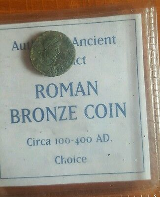 Authentic ancient artifact roman bronze coin 100-400 AD choice