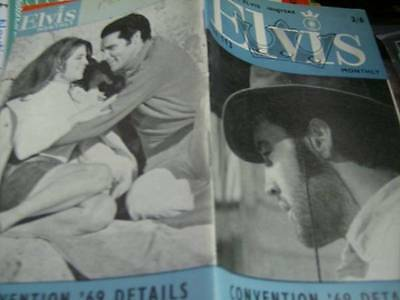 Elvis Monthly UK Booklets- 10th Year -1969- 2 Issues- #111 &113