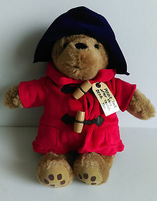 Classic Paddington Bear With Blue Hat And Red Coat Soft Toy