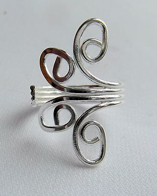 Sterling Silver (925)  Adjustable   Spirals  Toe Ring  !!     Brand  New !!
