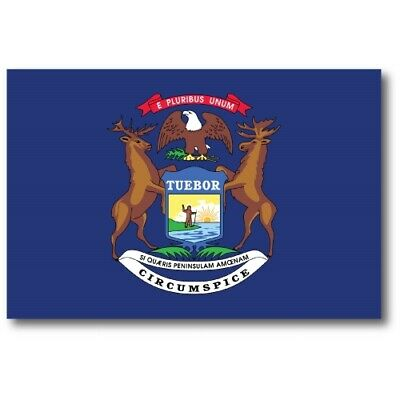 Michigan State Flag Magnet 4x6 inch US State Flag Decal for Car Truck or Fridge