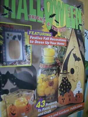 Halloween Tricks & Treats Craft 1997 Magazine-43 Projects- Most Shown