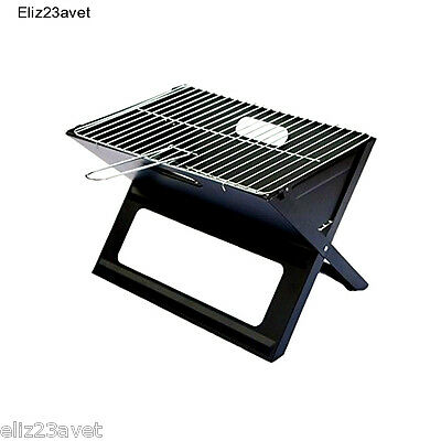 BBQ Grill Folding Picnic Garden Camping Portable Outdoor Cooking Steel-Chrome