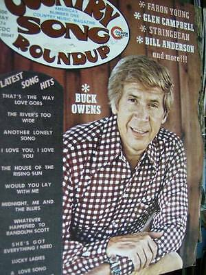 Country Song Roundup Magazine May 1974 Buck Owens, Faron Young, Glen Campbell, S