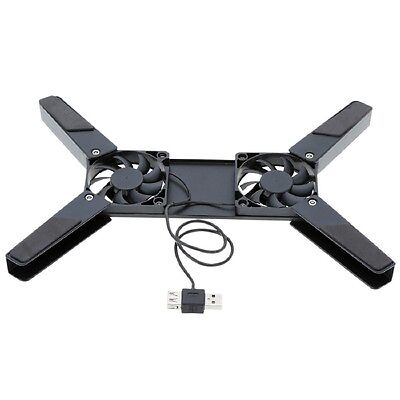 Sell Well Rotatable Usb Laptop Notebook Pc 2 Fans Cooler Cooling Pad Black