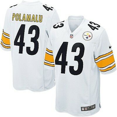 NFL Pittsburgh Steelers Troy Polamalu Youth American Football Shirt Jersey