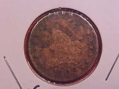 1809 P Half Cent - Corrosion/cleaned - Vg Details - See Pics! - (E12092)