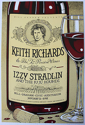 Keith Richards Original Concert Poster San Francisco 1993 show -  rolling stones