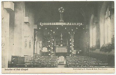 Interior of Biel Chapel, 1905 postcard