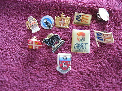 10 Newfoundland Related Lapel Pins